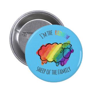Rainbow Sheep Pin