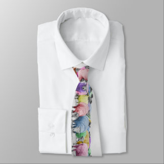 Rainbow Sheeps for Shepherd. Colorful Tie