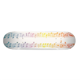 Rainbow Sheet Music Skateboard