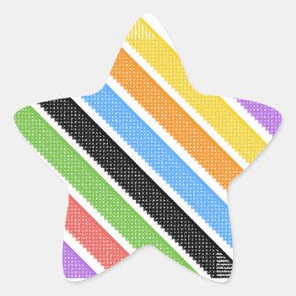 Rainbow Shinning Stars Star Sticker