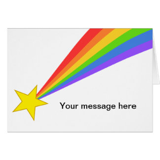 Rainbow Shooting Star Greeting Card