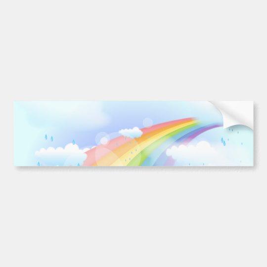 Rainbow Shower Bumper Sticker