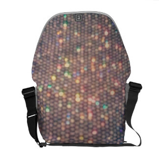 Rainbow Silver Sequin Messenger Bag