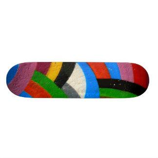 Rainbow skateboard. skateboard deck