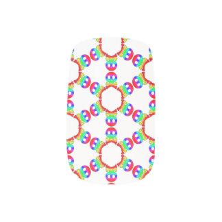 Rainbow Skull and Crossbones 3 Minx ® Nail Art