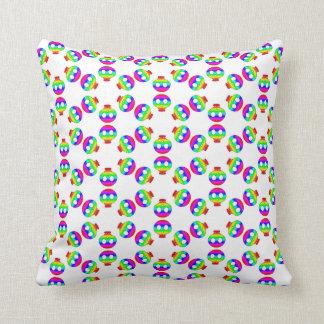 Rainbow Skull Blast pillow Throw Cushions