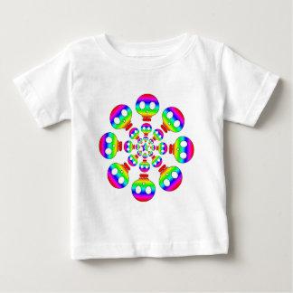 Rainbow Skull Burst infant T-shirt