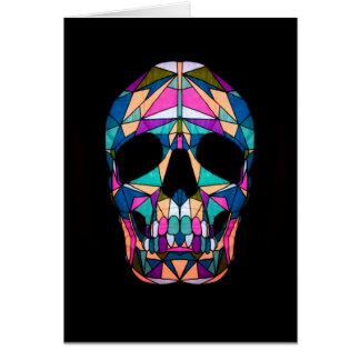 Rainbow skull Card