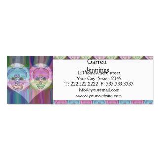 Rainbow Skull Couple Sugar Skulls Pack Of Skinny Business Cards