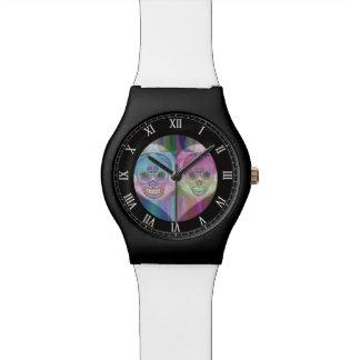 Rainbow Skull Couple Wristwatch
