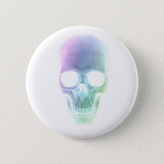 Rainbow Skull - Custom Background 6 Cm Round