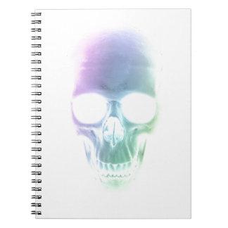 Rainbow Skull - Custom Background Note Book