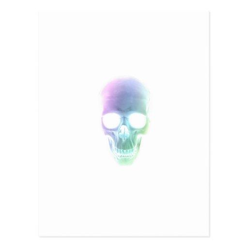 Rainbow Skull - Custom Background Postcard