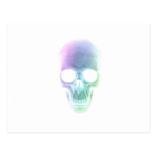 Rainbow Skull - Custom Background Post Cards