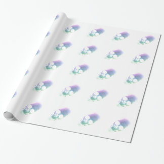 Rainbow Skull - Custom Background Gift Wrapping Paper