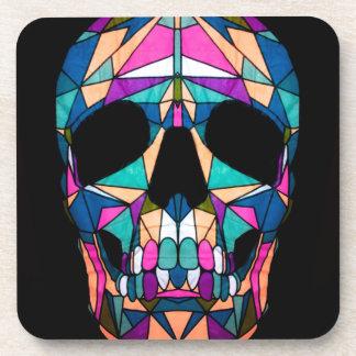 Rainbow skull drankjes onderzetters