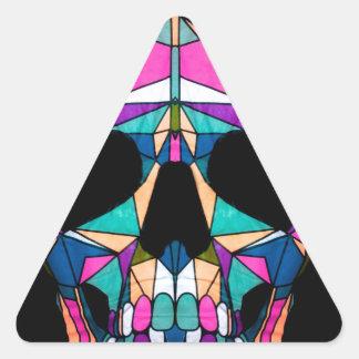 Rainbow skull driehoekvormige stickers