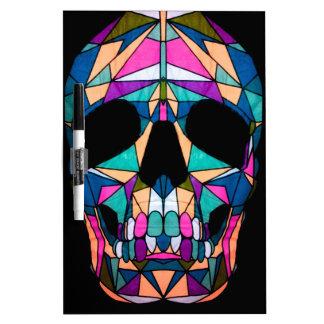 Rainbow skull dry erase whiteboards