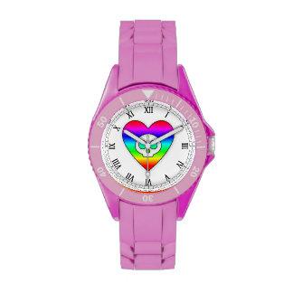 Rainbow Skull Heart watch