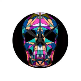 Rainbow skull muurklokken