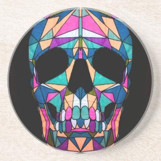 Rainbow skull onderzetter voor drankjes