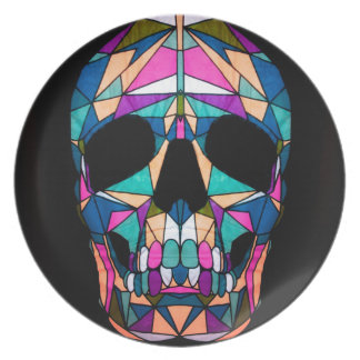 Rainbow skull party borden