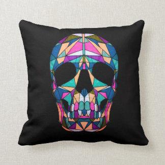 Rainbow Skull Pillow
