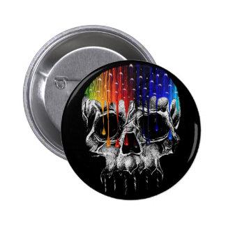 Rainbow Skull Pin