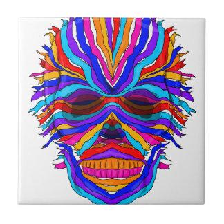 Rainbow Skull Ribbon Small Square Tile