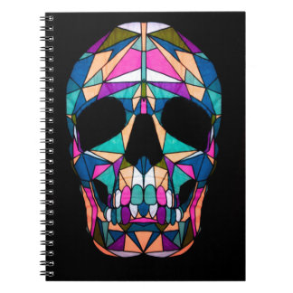 Rainbow skull ringband notitieboek