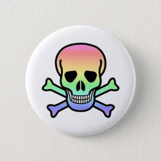 Rainbow Skull Round 6 Cm Round Badge