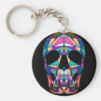 Rainbow skull sleutel hanger