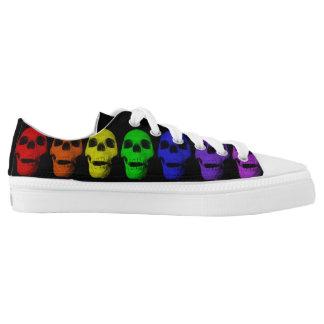 Rainbow Skull Sneakers