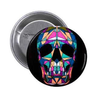 Rainbow skull speld buttons
