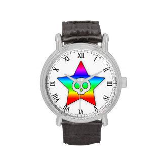 Rainbow Skull Star watch