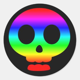 Rainbow Skull Sticker Two