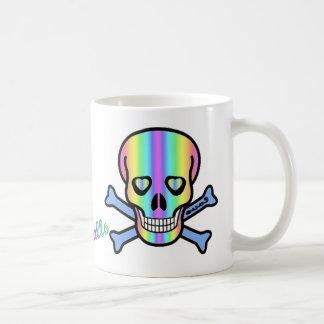Rainbow Skulls Basic White Mug