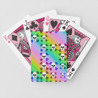 Rainbow Skulls Bicycle Poker Cards