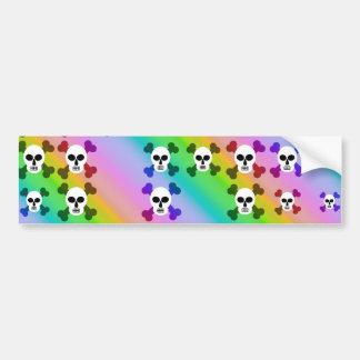 Rainbow Skulls Bumper Stickers