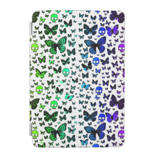 Rainbow Skulls & Butterfly Custom Color iPad Mini Cover
