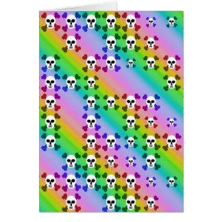 Rainbow Skulls Cards