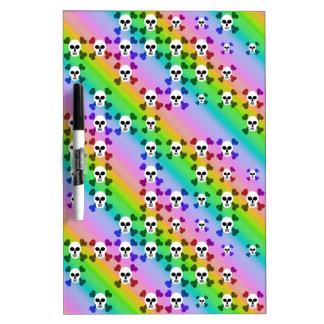 Rainbow Skulls Dry Erase Boards
