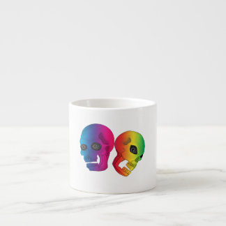 Rainbow Skulls Espresso Mug