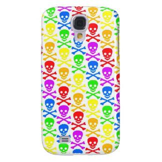 """Rainbow Skulls""  Galaxy S4 Case"