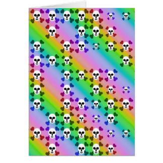 Rainbow Skulls Greeting Card
