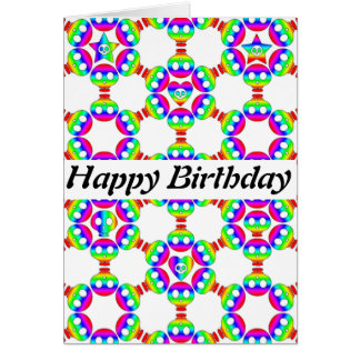 Rainbow Skulls Happy Birthday card