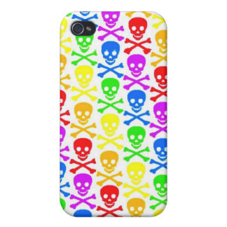 """Rainbow Skulls""  iPhone 4 Case"
