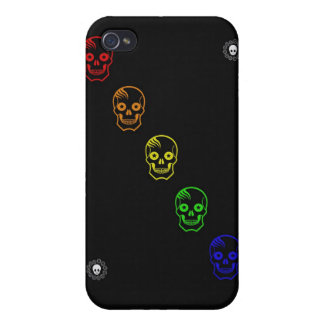 Rainbow Skulls iPhone 4/4S Cases