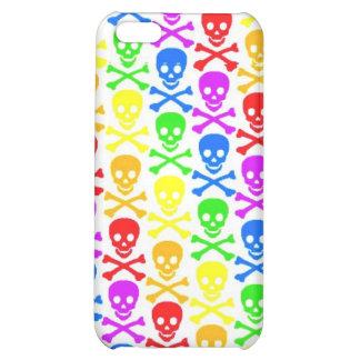 Rainbow Skulls Case For iPhone 5C