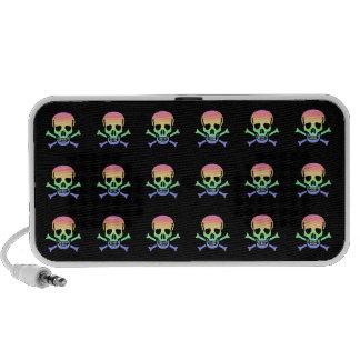 Rainbow Skulls Laptop Speaker